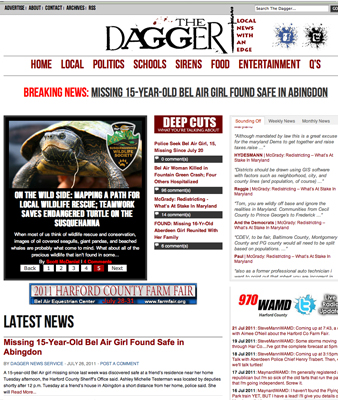 Hyperlocal news site The Dagger