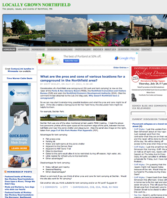 Hyperlocal news blog Locally Grown Northfield