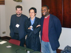 John Archibald, Wade Kwon and André Natta at the Alabama PRSA meeting in 2008