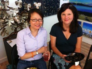 Julie Pham and Kristi Heim at Alki Arts