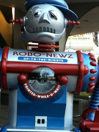 Robo News dispensary Tomorrowland Disney World