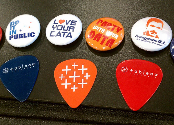 Tableau buttons and picks at Seattle Interactive Conference