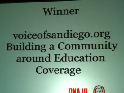 Voices of San Diego ONA winner Building a Community around Education Coverage