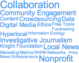 Journalism Accelerator Tag Cloud